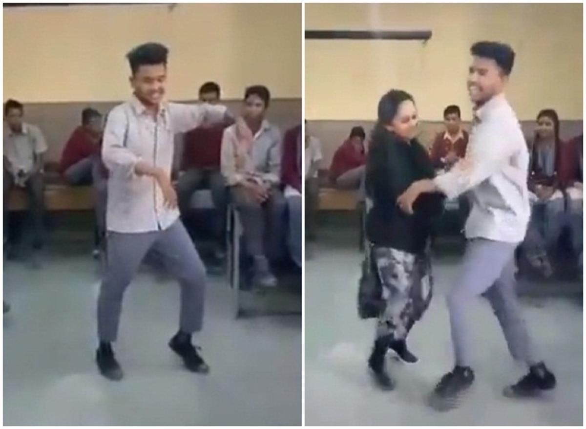 Tujh Mein Rab Dikhta Hai! Boy salutes his teachers by dancing for them on his last day; Watch Video