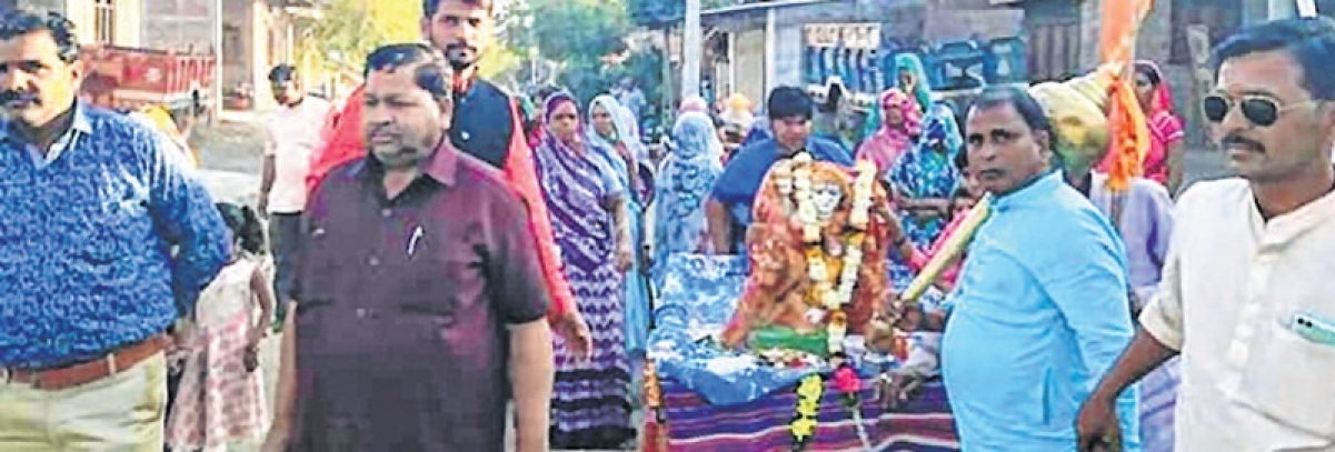 Ujjain: VHP, BD workers reinstate goddess' idol