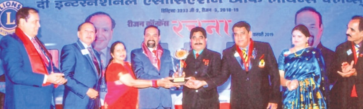 Bhopal: Lions Club PRO Gupta feted