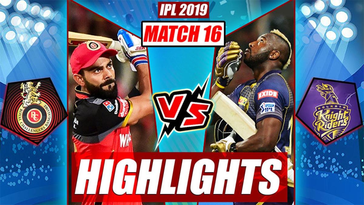 RCB vs KKR Highlights, IPL 2019 Match 17   Match Turning Points, Russell Super Six
