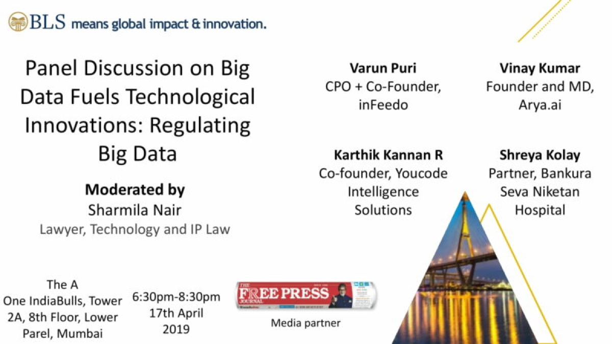 Panel Discussion on Big Data Fuels Technological Innovations: Regulating Big Data