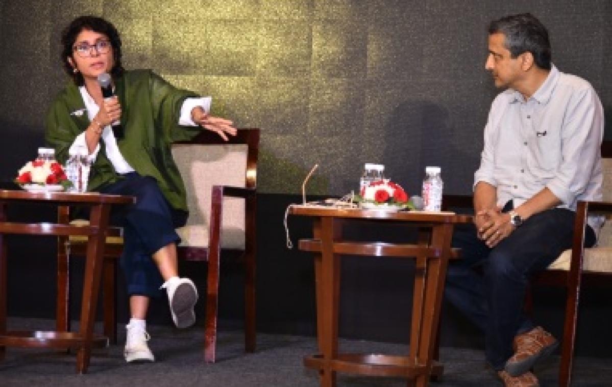 (L-R) Kiran Rao and Satyajit Bhatkal, CEO, Paani Foundation speaking at the TiECON 2019 at Westin