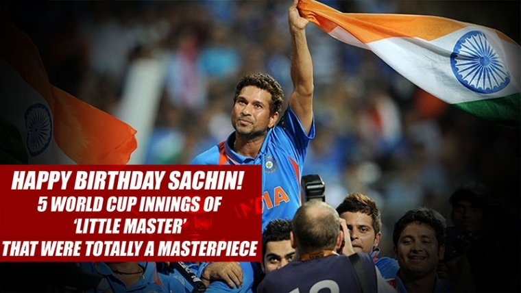 Happy Birthday Sachin! | 5 World Cup innings of  'Little Master' that were totally a Masterpiece