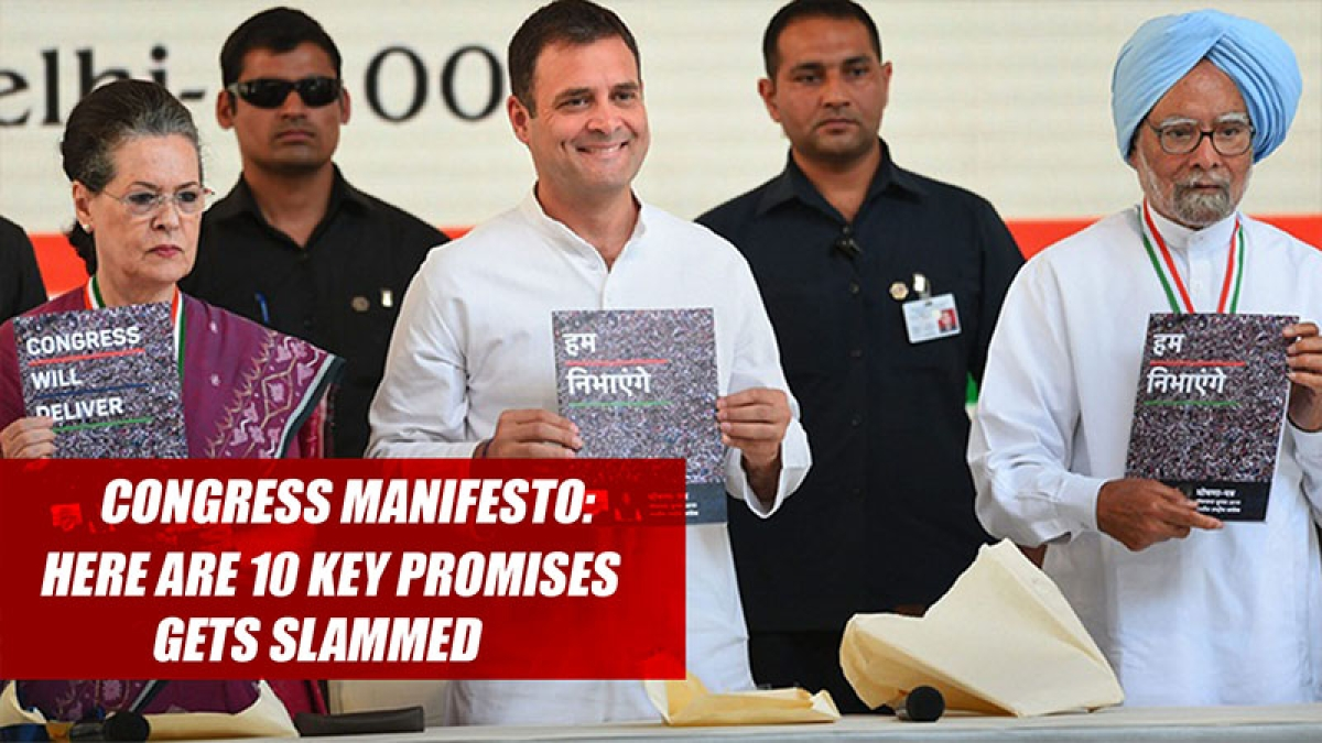 Congress Manifesto: Here Are 10 Key Promises Made By Party