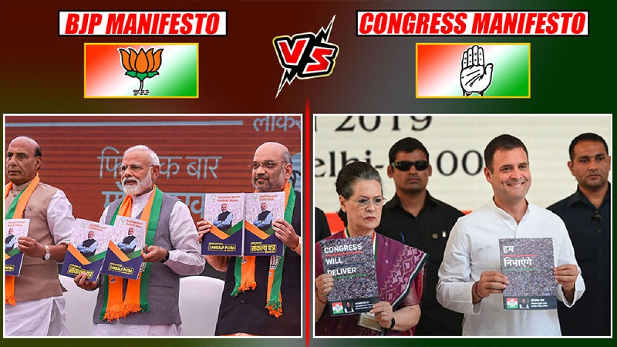BJP vs Congress Manifesto: What Both Parties Promised To Public In Their Manifesto