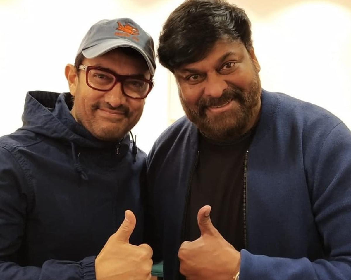 Aamir Khan runs into south superstar Chiranjeevi, calls him inspiration