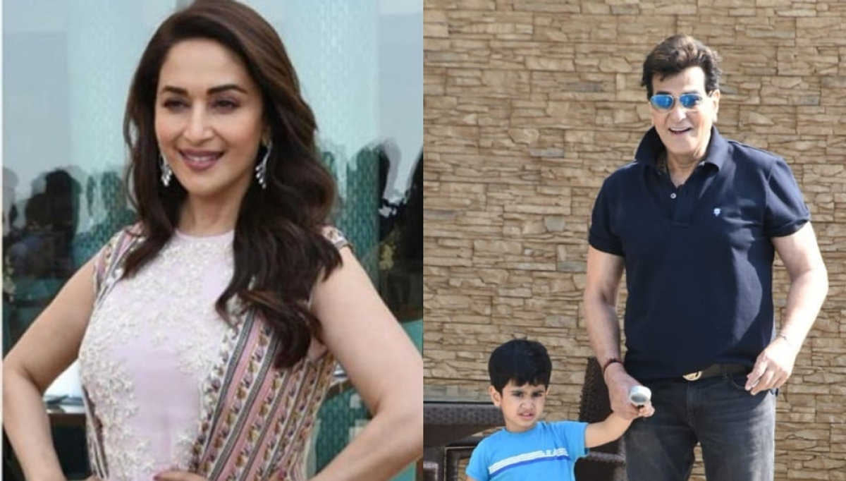 Jeetendra, Madhuri Dixit catch up after 22 years; watch video of their hilarious rendezvous