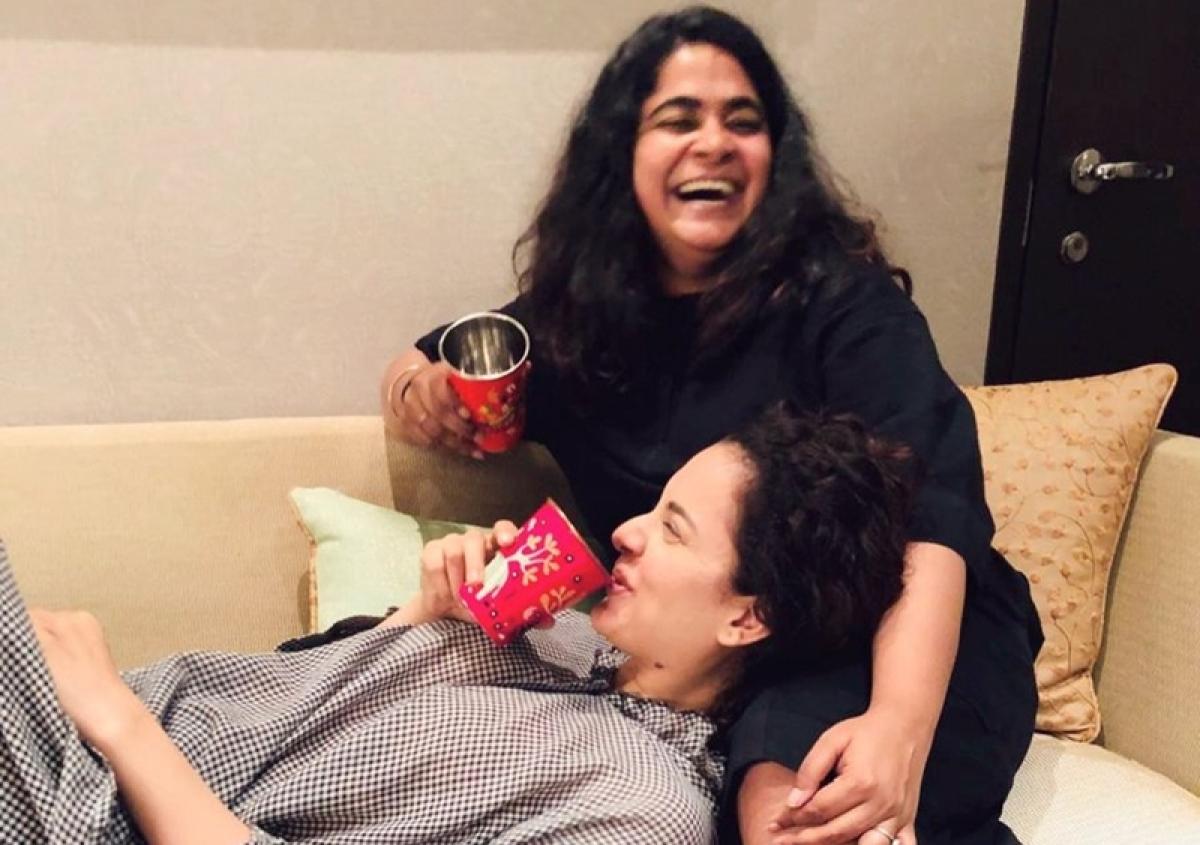 Kangana Ranaut, Ashwiny Iyer Tiwari bond over Golgappas and Alu Tikki chats post 'Panga' shoot