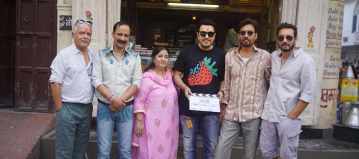 Irrfan Khan begins shooting for Angrezi Medium in Udaipur