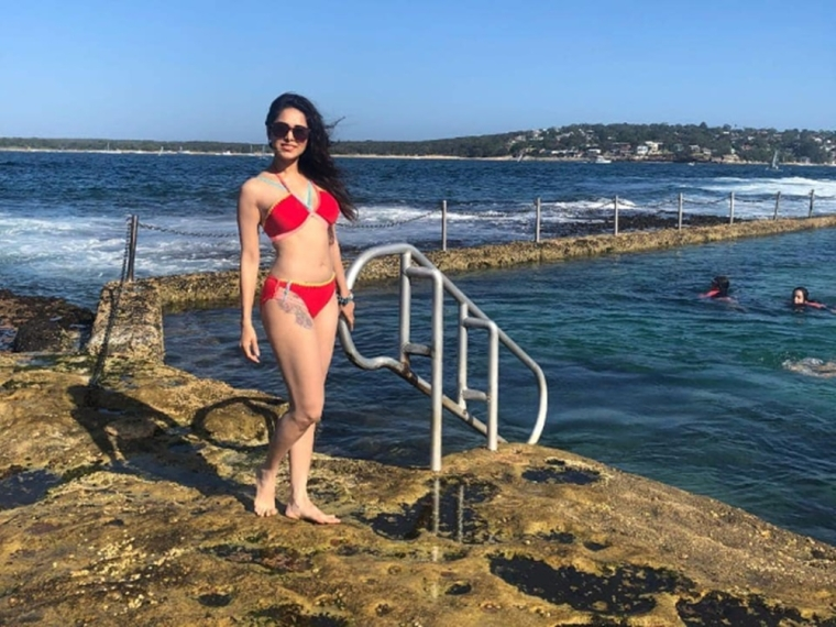 In Pic: Nushrat Bharucha sizzles in red bikini during her Australian vacation
