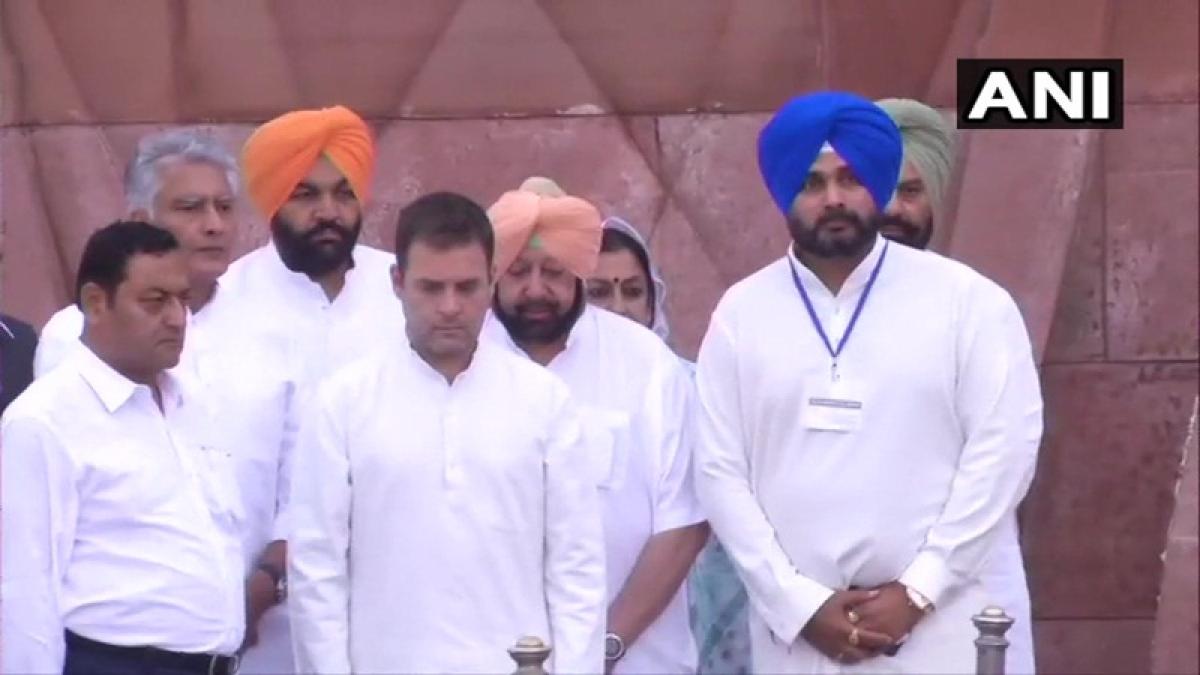 Jallianwala Bagh massacre centenary: Rahul Gandhi, Amarinder Singh, Navjot Singh Sidhu pay floral tributes