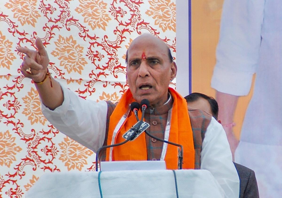 Amit Shah FIR is a mockery, says Rajnath Singh