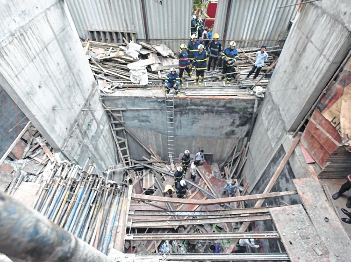 Mumbai: Slab collapse injures five in Nagpada