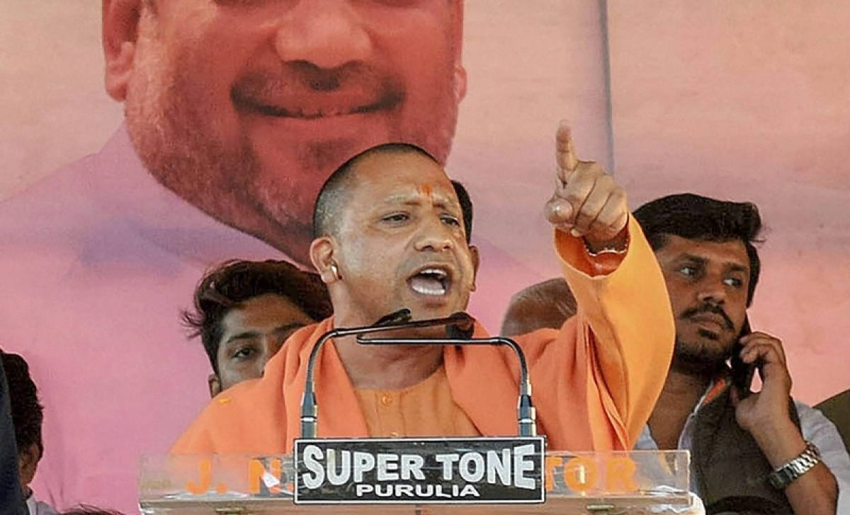 SP's bicycle will 'puncture' under weight of BSP's elephant: Yogi Adityanath