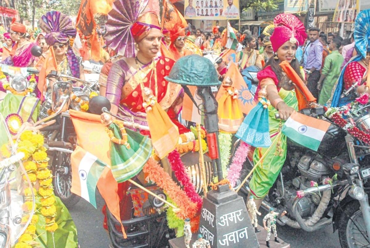Be like braveheart pilot Abhinandan Varthaman, is message of Gudi Padwa rally
