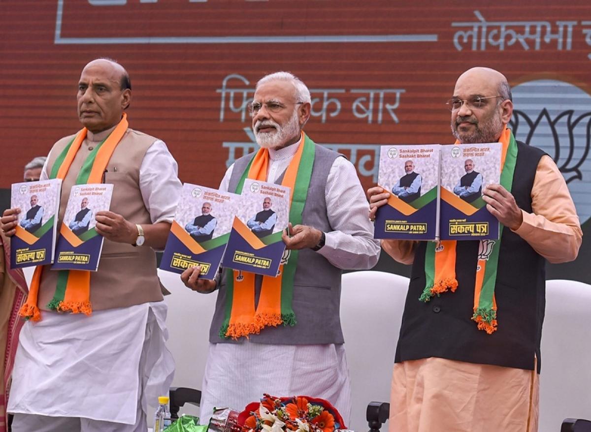 BJP makes a major mistake, manifesto says 'commit crimes against women'