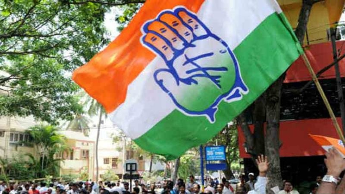 File Pic/ Ujjain Congress flag at a rally