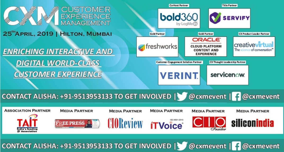CXM Event 2019 – A Strategy That Builds Customer Loyalty, Retention and Increases Sales