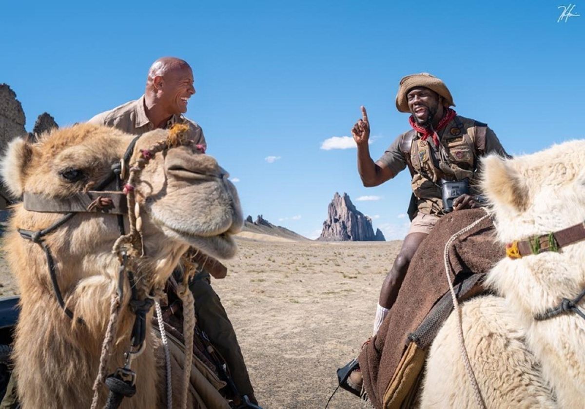 The Rock, Kevin Hart savour time on sets of 'Jumanji'
