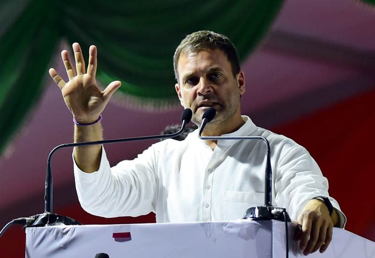 Believe in yourself and don't be disheartened by fake exit polls, Rahul tells party workers