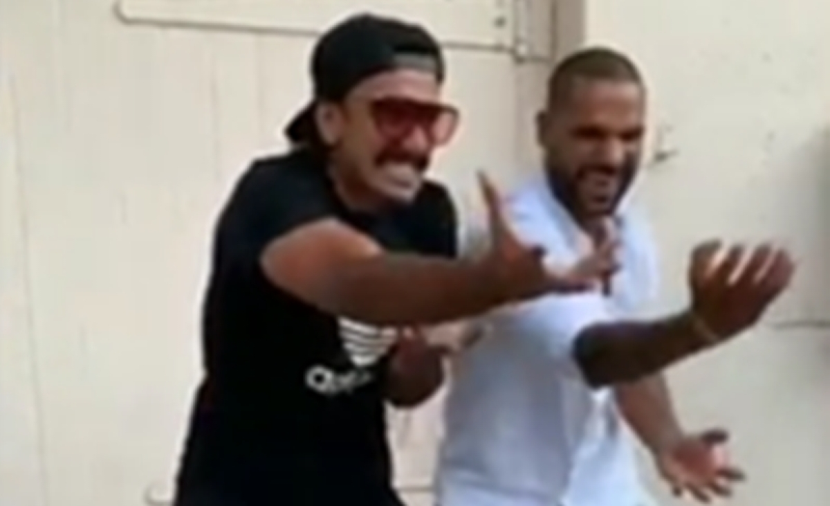 Khalibali step recreated by Ranveer Singh, Shikhar Dawan