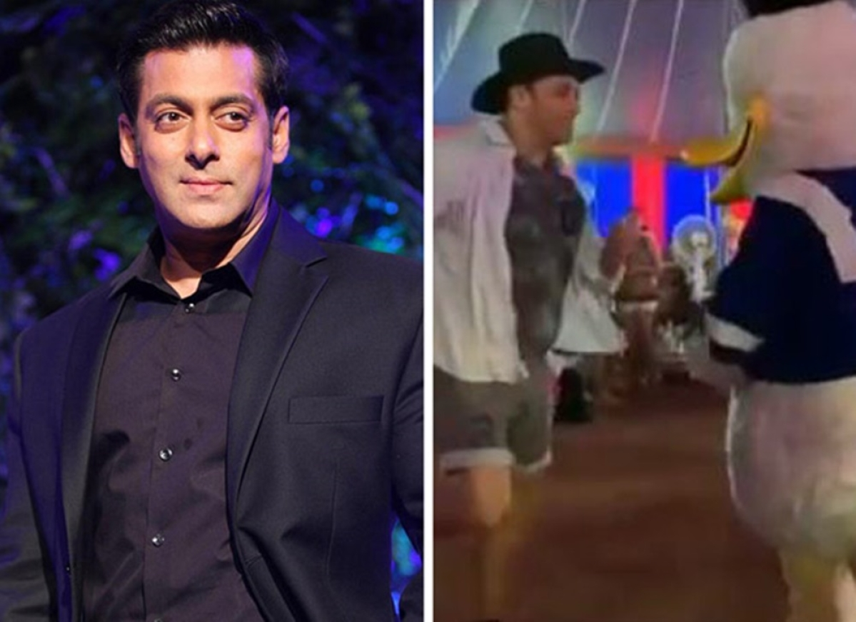 Watch Video! Salman Khan dances with Donald Duck at the birthday party of nephew Ahil Sharma