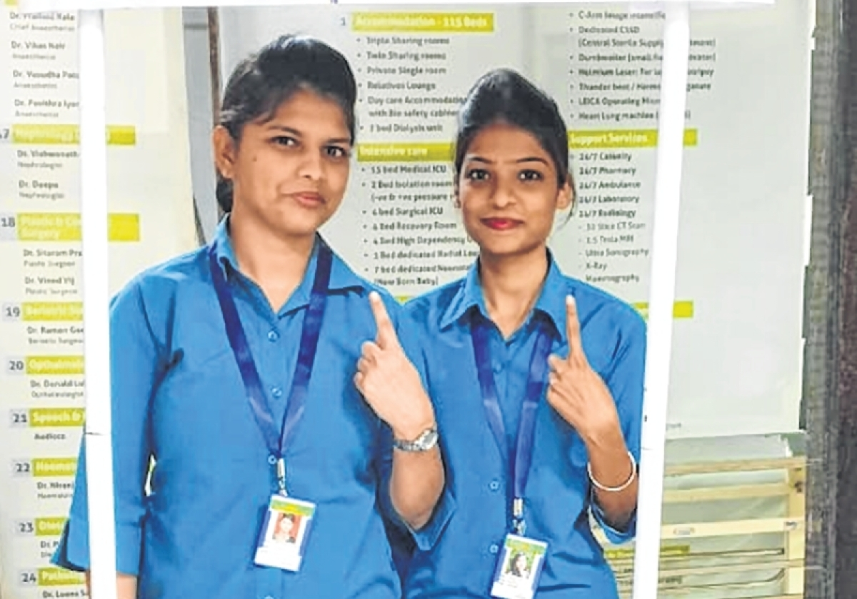 Lok Sabha elections 2019: Medicos from Mumbai hospital appeal to cast votes for Healthy Nation