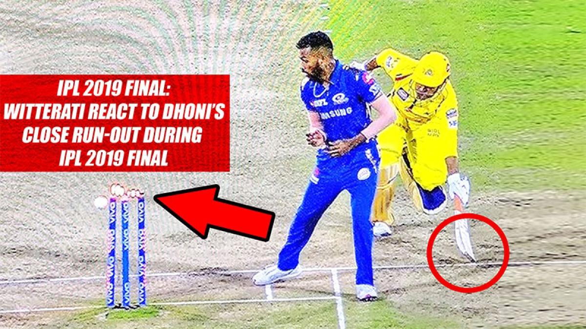 IPL 2019 Final: Twitterati React To Dhoni's Close Run-Out During IPL 2019 Final