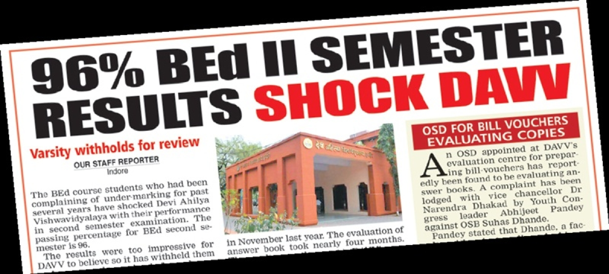 Indore: BEd; Bachelor of Educational Dishonesty!