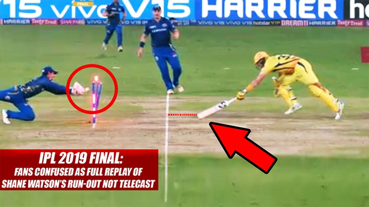 IPL 2019 Final: Fans Confused As Full Replay Of Shane Watson's Run-Out Not Telecast
