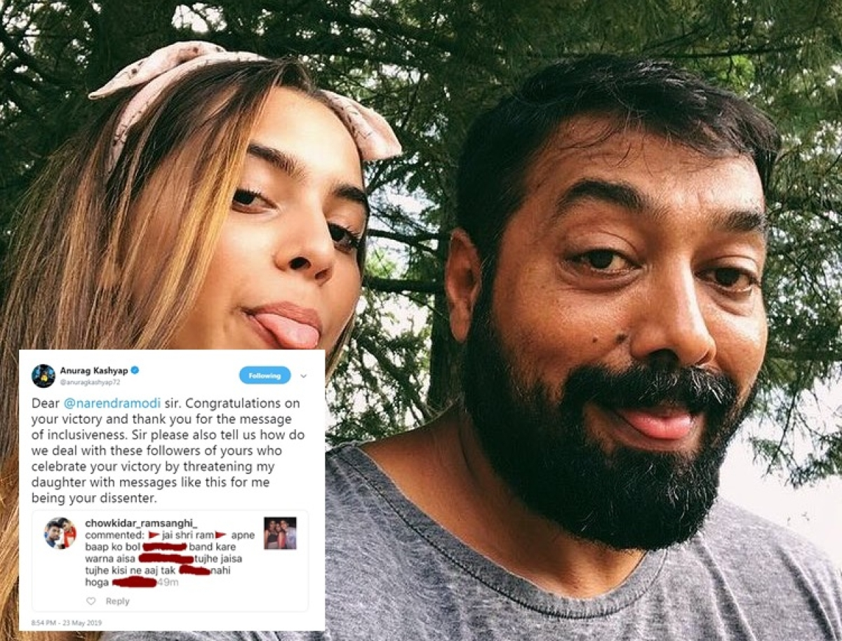 PM Modi follower sends rape threat to Anurag Kashyap's daughter