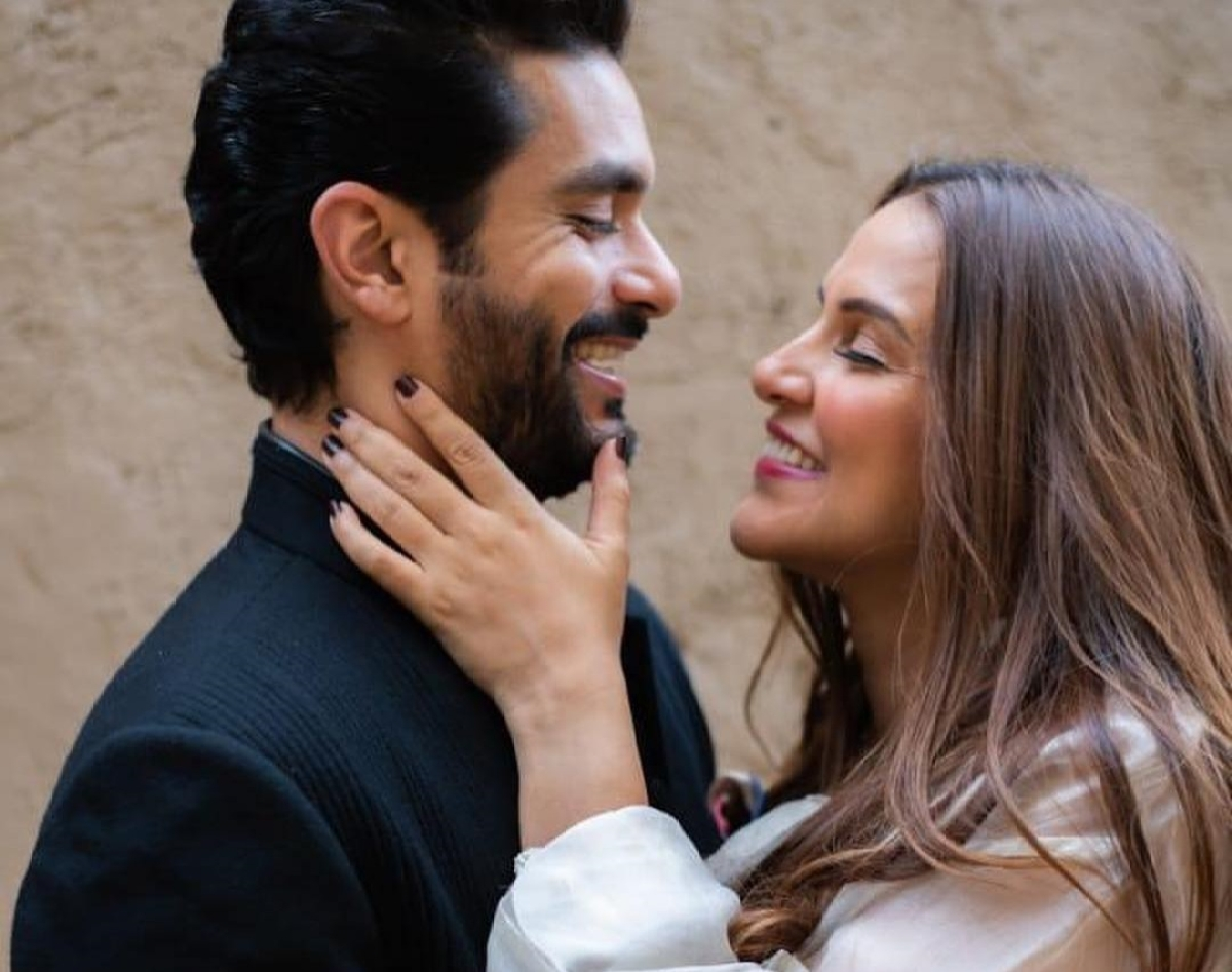 Neha Dhupia's shares all adorable moments with Angad Bedi on their first wedding anniversary