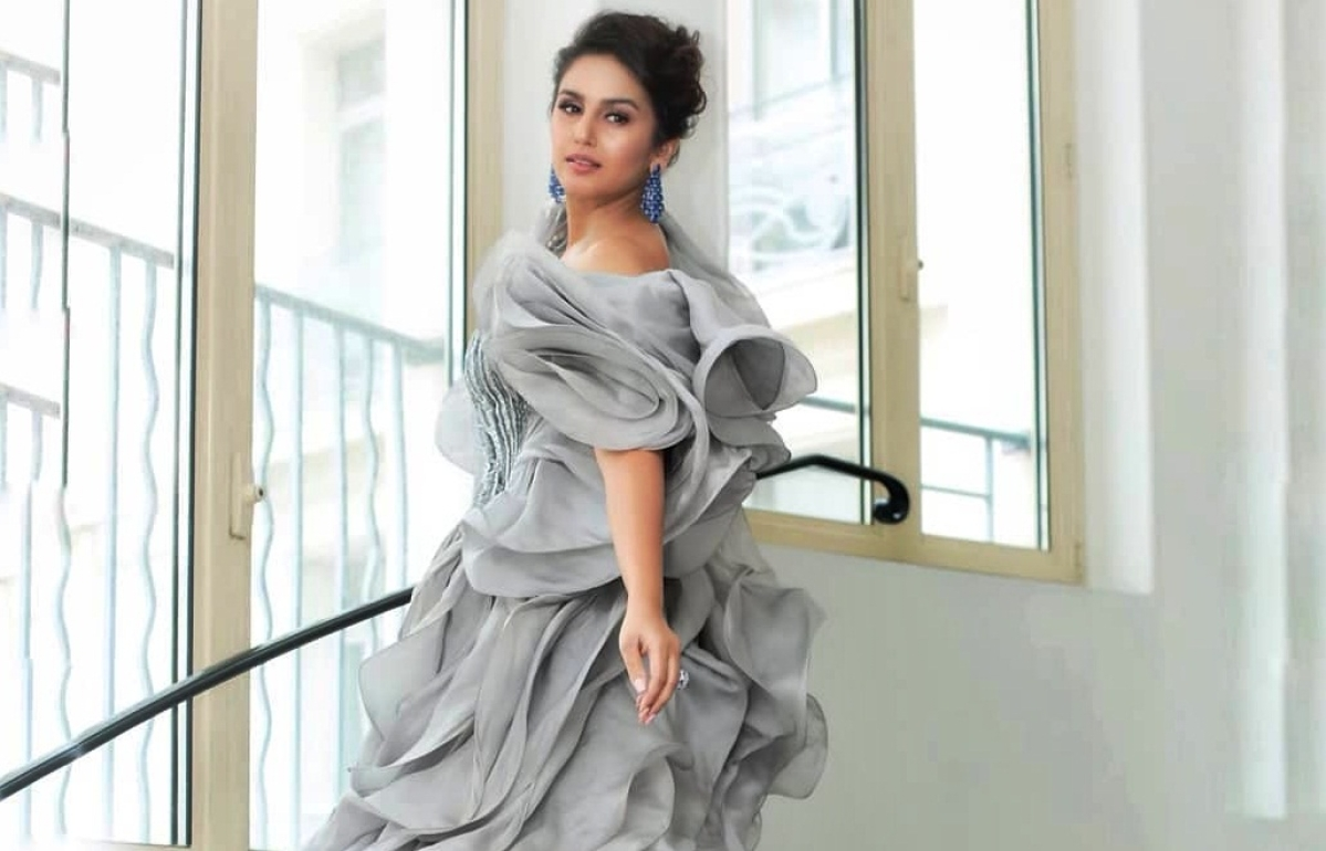 Huma Qureshi grabbing eyeballs in a beautiful flowing gown at Cannes 2019