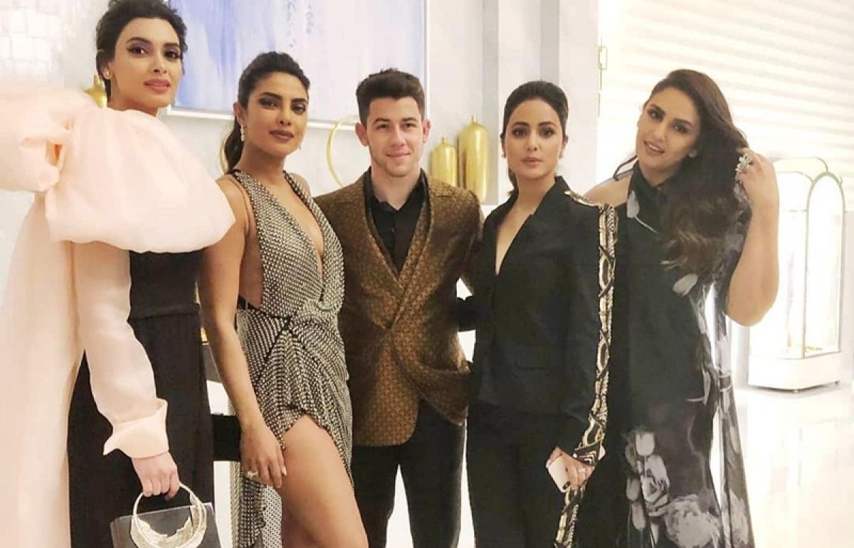Desi girls Diana Penty, Hina Khan, Huma Qureshi party with Priyanka Chopra and 'Jiju' Nick Jonas