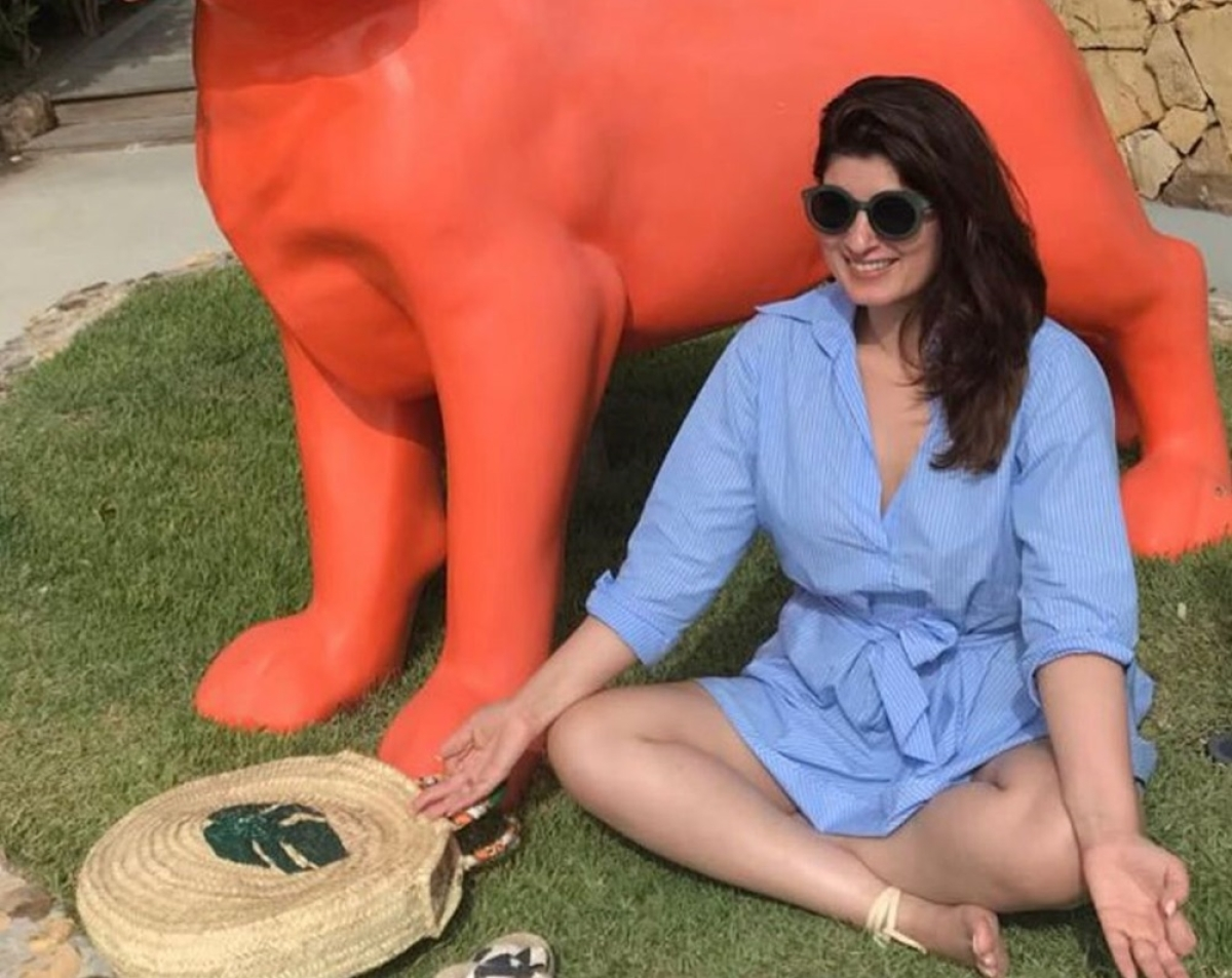 Did Twinkle Khanna poke fun at PM Narendra Modi with her 'meditation' pic?