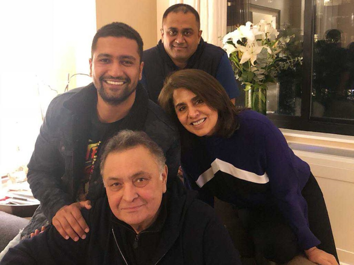 Ranbir Kapoor's pal Vicky Kaushal visits ailing Rishi Kapoor in New York