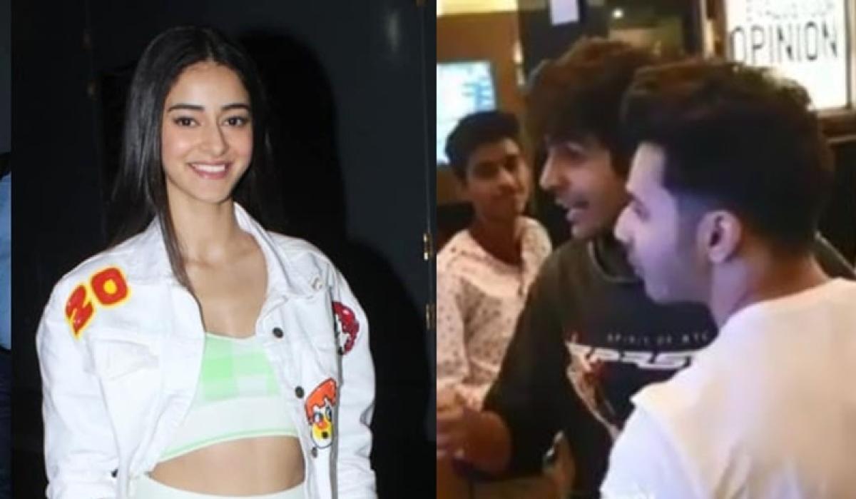 Watch Varun Dhawan drag Kartik Aaryan away from Ananya Pandey