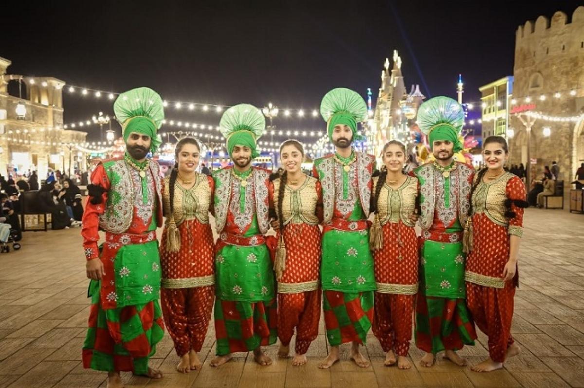 Pure Bhangra- Team making Middle East Dancing on Punjabi Beats