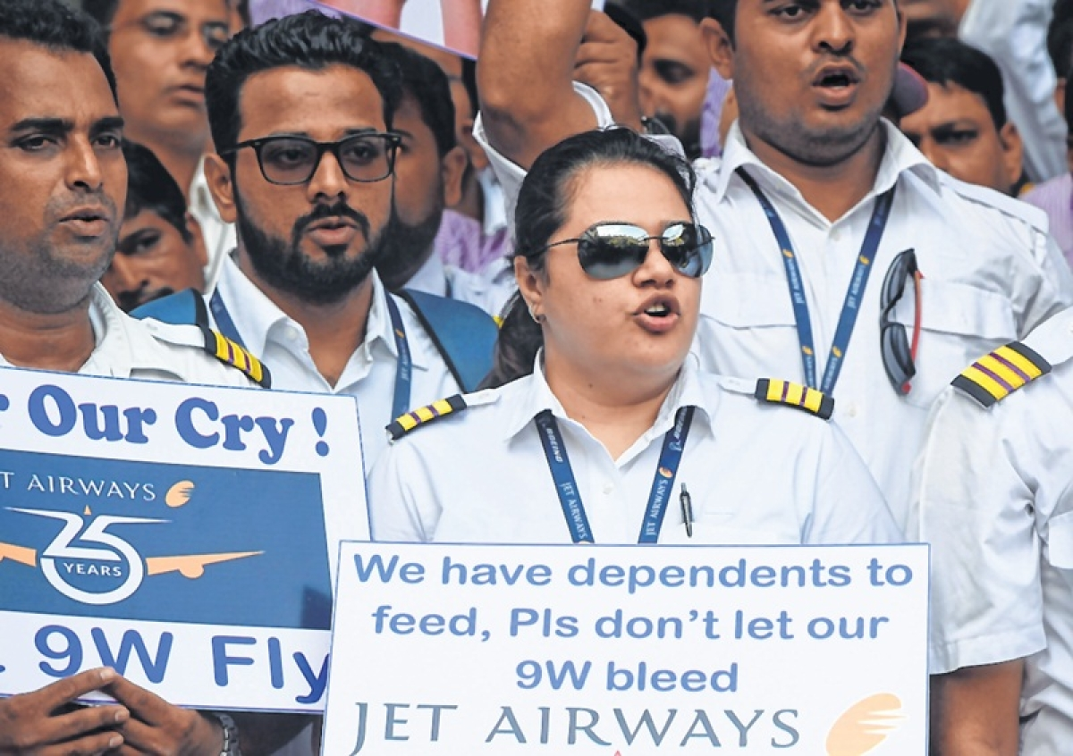 Employees hold silent protest at Mumbai International Airport
