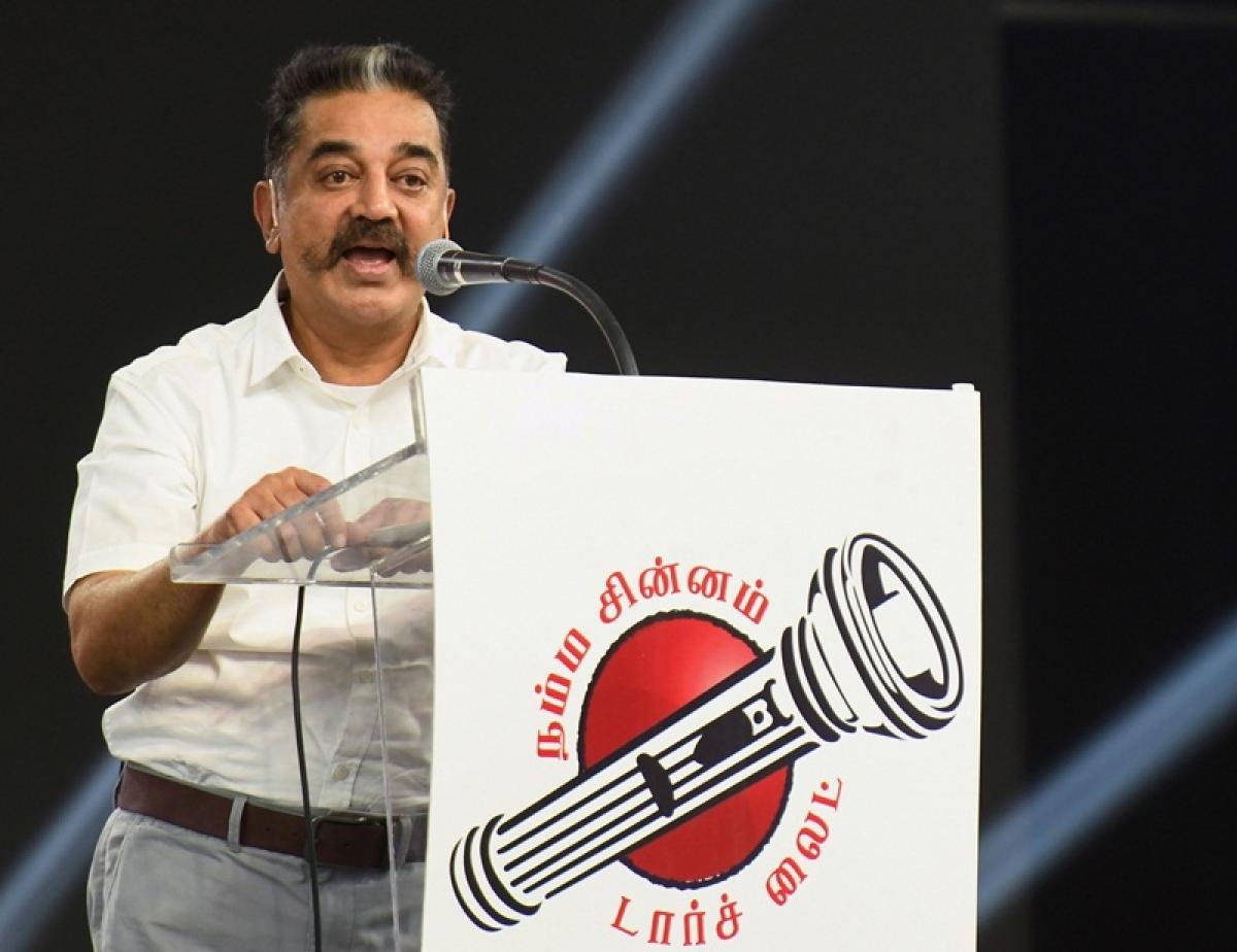 Eggs, stones hurled at meeting addressed by Kamal Haasan