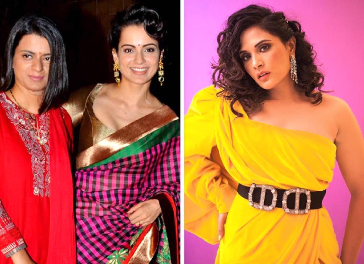 This time Kangana Ranaut's sister Rangoli Chandel lashesh out at Richa Chadha and calls her jobless