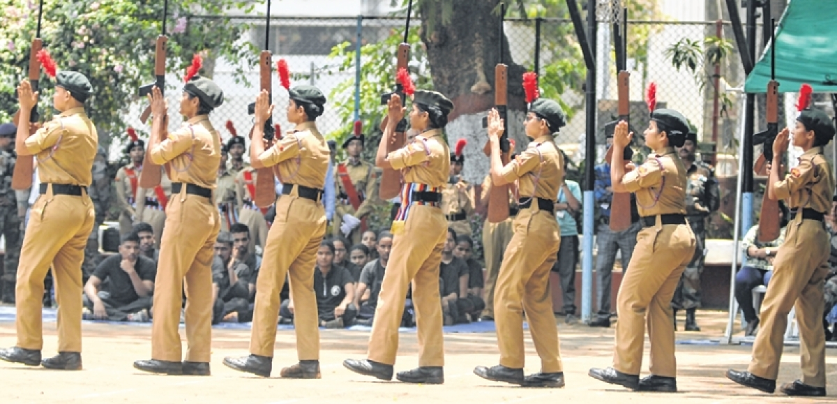 Mumbai: Camp commandant apprises cadets at NCC's annual training programme
