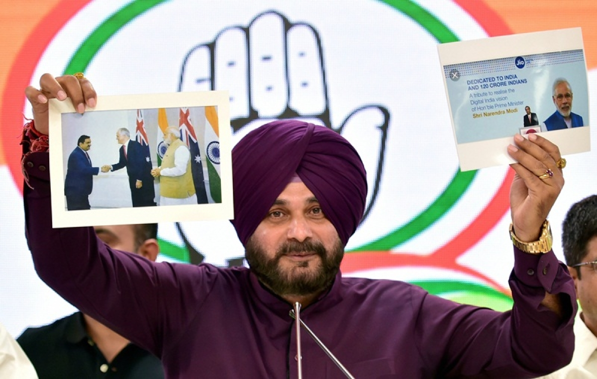 PM Narendra Modi seeks votes in the name of security forces and dead bodies: Navjot Singh Sidhu