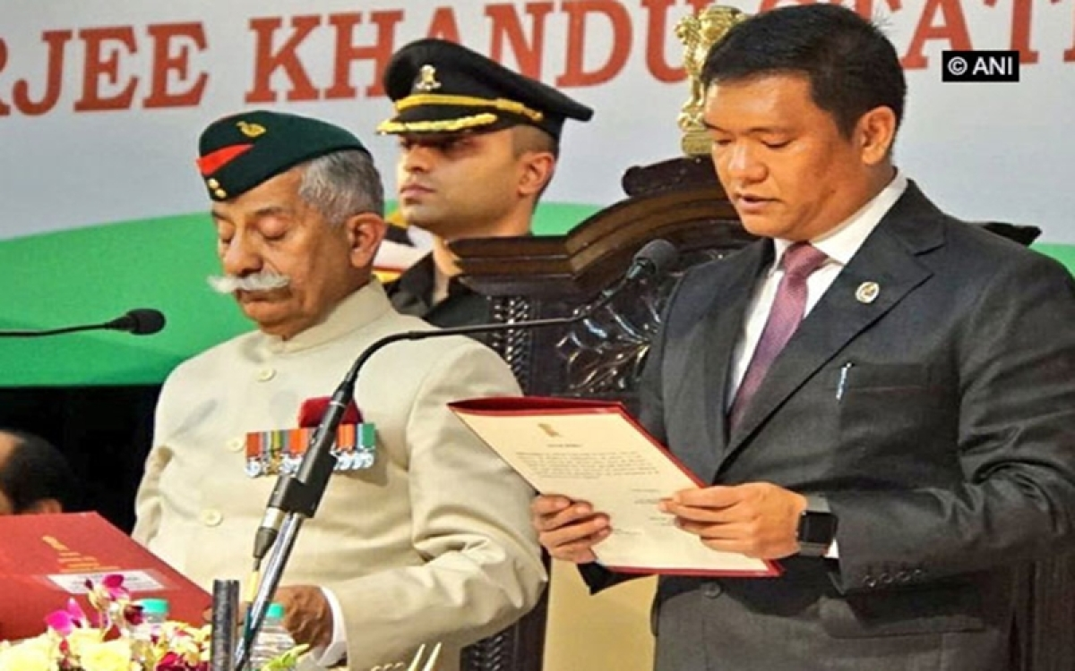 Pema Khandu sworn-in as AP Chief Minister; says accept role of 'Mukhya Sevak' with full responsibility