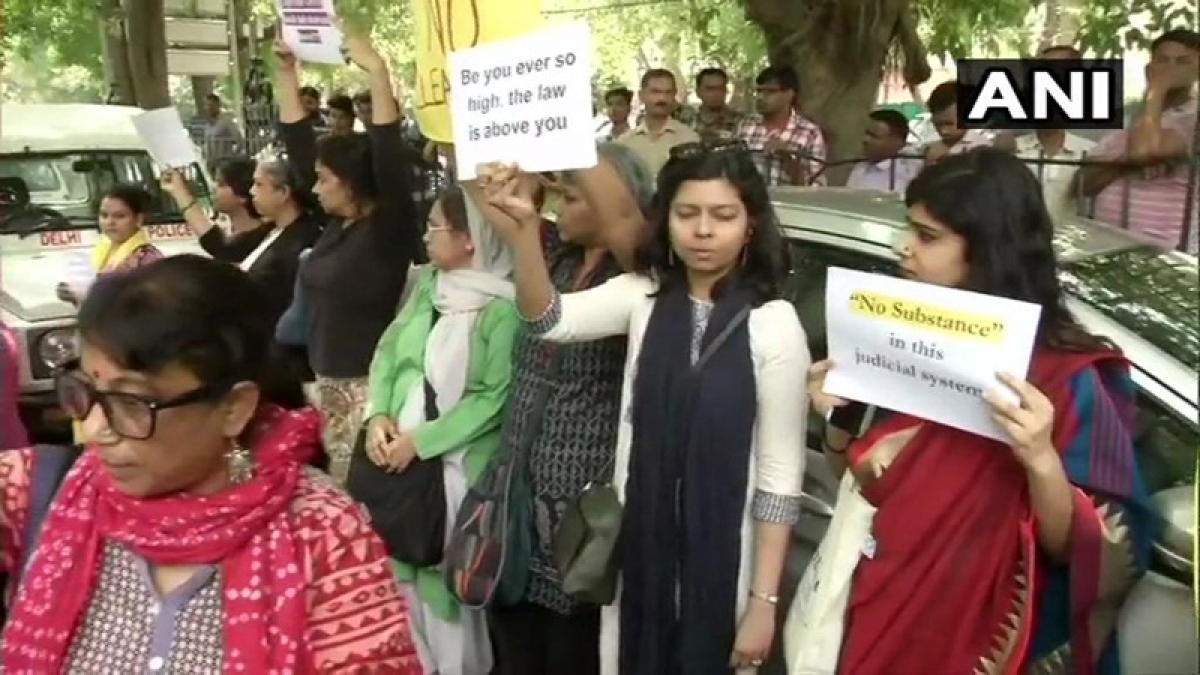 Women detained for protesting outside Supreme Court against clean chit to CJI in sexual harassment case