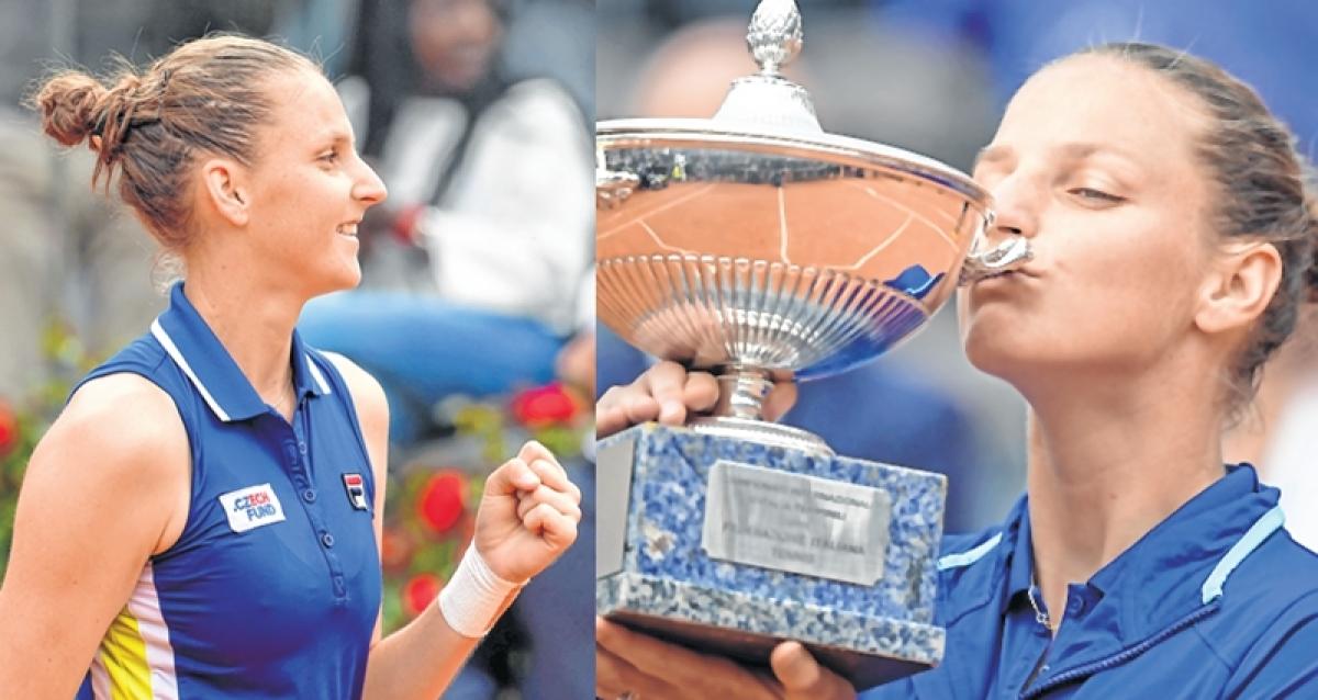 Czechmate, Karolina Pliskova sweeps past Johanna Konta to win Italian Open