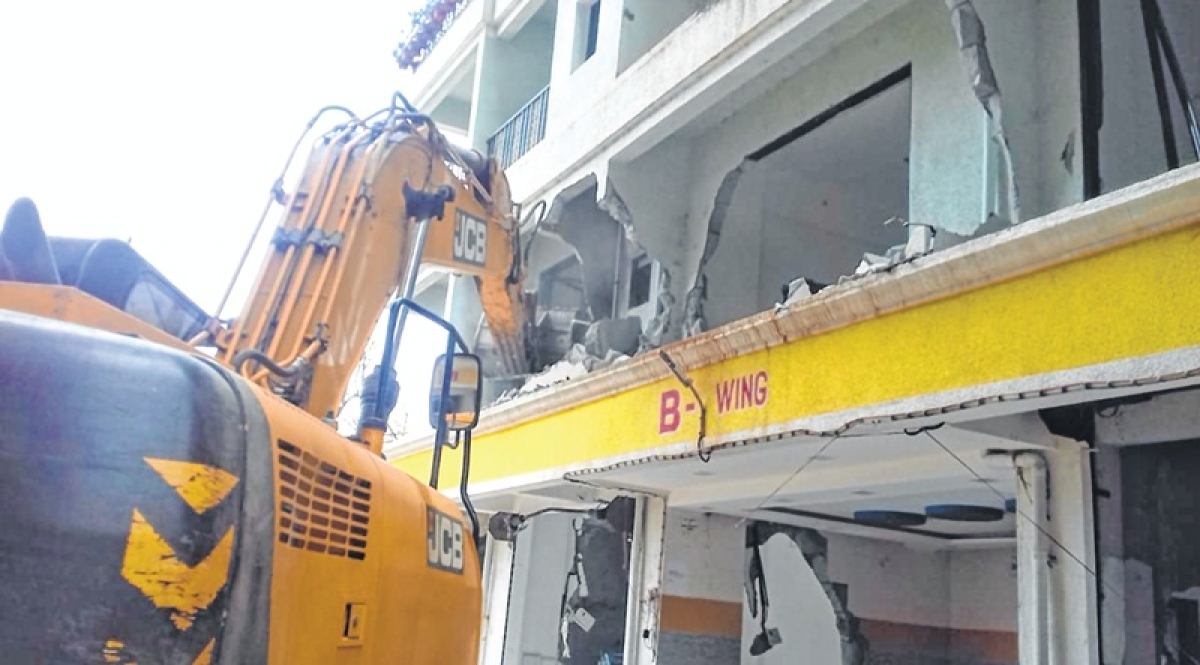 Seven-storey illegal building demolished in Dombivli