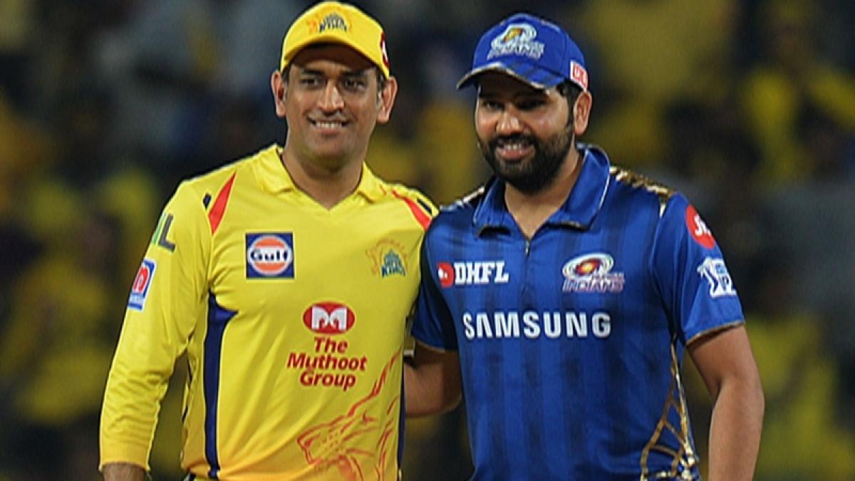 Chennai Super Kings captain Mahendra Singh Dhoni and Mumbai Indian captain Rohit Sharma