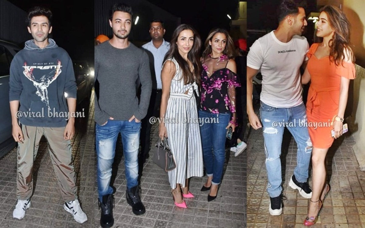 Student of the Year 2 Screening: Kartik Aaryan, Malaika Arora, Abhishek Bachchan and others in attendance