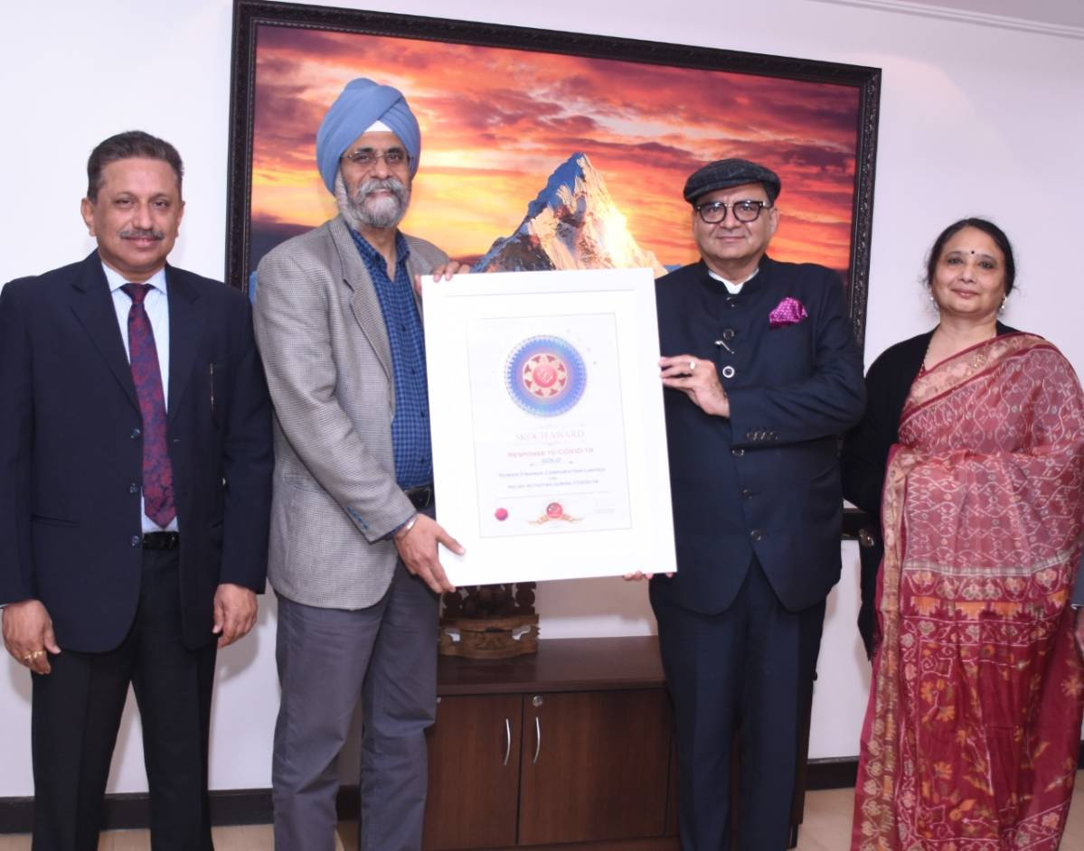 PFC bags SKOCH Gold Award in ?Best Performing PSU for Covid Activities? category